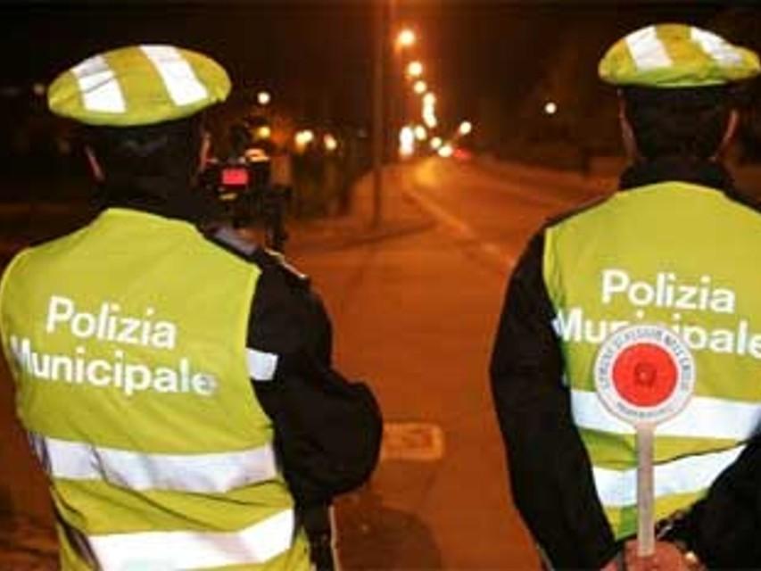 Posto di blocco della Polizia Municipale-2