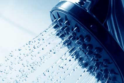 fresh shower clean blue water jet